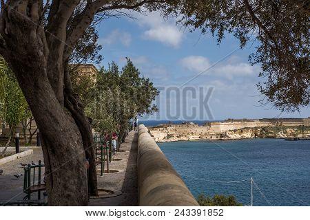 Photo Of Valletta, Malta, Mediterranean Sea, View From Lower Barrakka Gardens