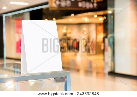 Blank Poster Mock Up.empty Poster Billboard With Blank White Sheet,sale And Promotion Label Template