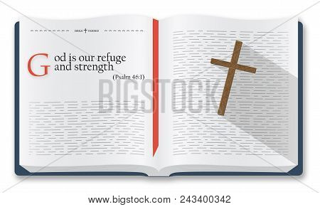 Best Bible Verses To Remember - Psalm 46:1. Holy Scripture Inspirational Sayings For Bible Studies A