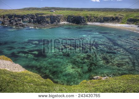 Shallow Rocky Lagoon And Beach Near Bonavista, Newfoundland