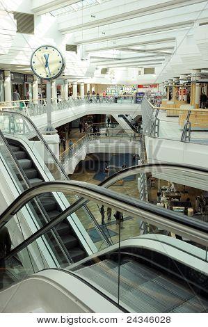 Escalators in the mall