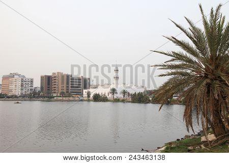 The Jaffali Mosque Nearby Balad (shopping Area)  In Evening  Jeddah, Saudi Arabia