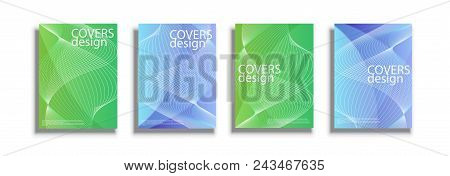 Covers Design Templates. Square Cover, Sphere Covers. Vector Illustrations For Three Different Shape