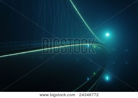 Big bridge at night
