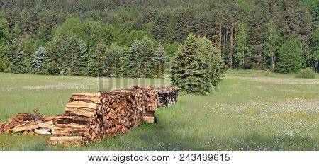 Traditional Storage Timber , Southern Bohemia . Czech Republic