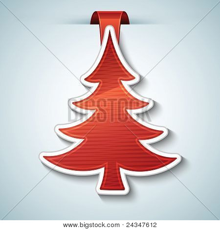 Christmas tree vector sticker