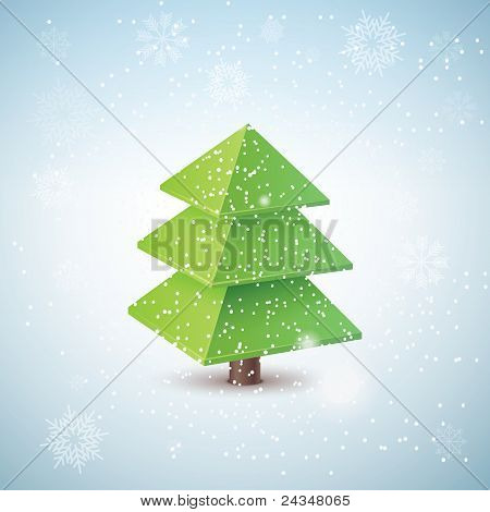 Vector 3d christmas tree