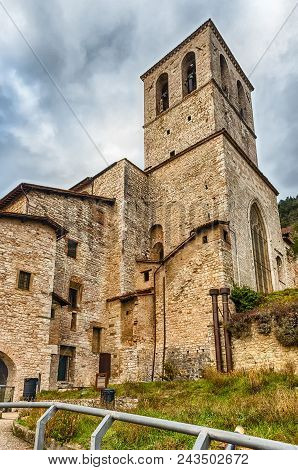 View Of The Medieval Cathedral Of Gubbio, One Of The Most Beautiful Medieval Towns In Central Italy