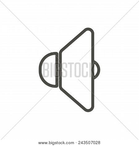 Sound Icon Vector. Line Voice Symbol Abstract Illustration Eps10. Graphic Background