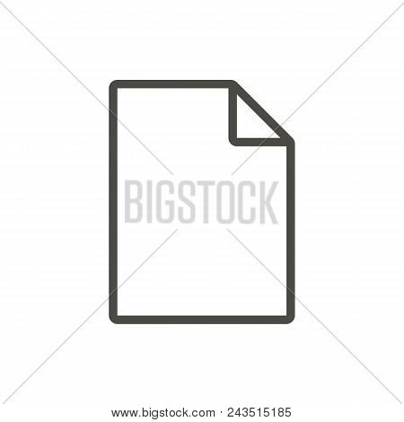 File Icon Vector. Line Symbol Abstract Illustration Eps10. Graphic Background Abstract Illustration