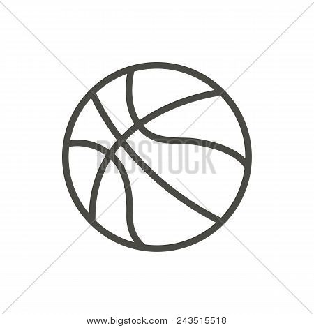 Basketball Ball Icon Vector. Line Basket Symbol Abstract Illustration Eps10. Graphic Background