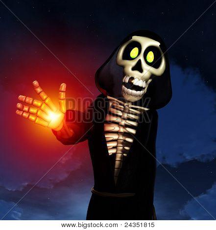 Cartoon Grim Reaper