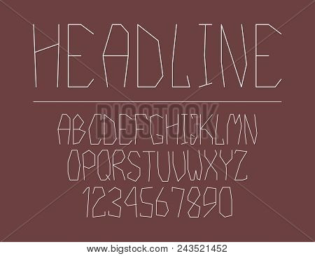 Modern Line Alphabet. Hipster Abstract Vector Font.