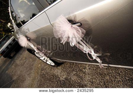 Ribbon On Car Door.