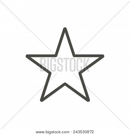 Star Icon. Outline Vector Abstract Illustration Eps10. Graphic Background Abstract Illustration Eps1