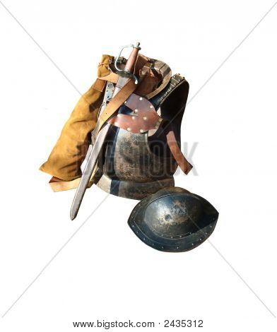 Body Armour, Sword & Tin Hat
