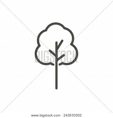Tree Icon Vector. Line Tree Symbol Abstract Illustration Eps10. Graphic Background