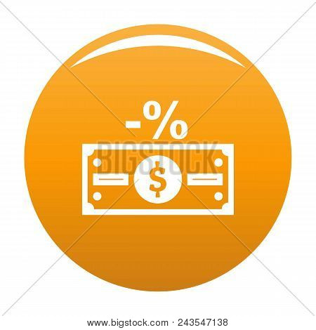 Pay Tax Icon. Simple Illustration Of Pay Tax Vector Icon For Any Design Orange