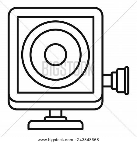 Action Camera Icon. Outline Illustration Of Action Camera Vector Icon For Web Design Isolated On Whi