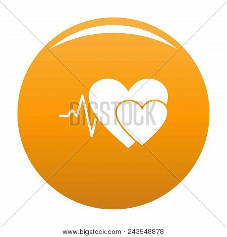 Cardiology Icon. Simple Illustration Of Cardiology Vector Icon For Any Design Orange