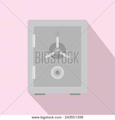 Steel Safe Icon. Flat Illustration Of Steel Safe Vector Icon For Web Design