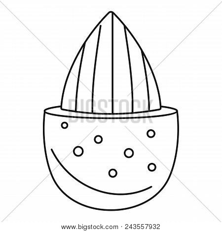 Half Shell Almond Icon. Outline Illustration Of Half Shell Almond Vector Icon For Web Design Isolate