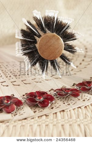 Wooden Comb For Hairs, Fan And Necklace