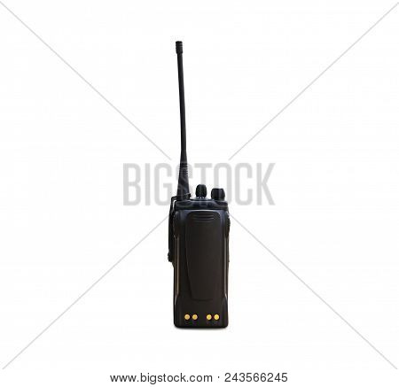 Portable Radios Walkie-talkie Isolated On White Transmitter, Portable Set, Portable Radio Set, Porta