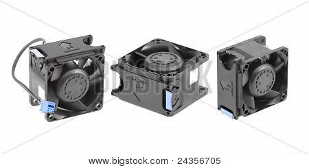 Black Plastic Cooling Fans