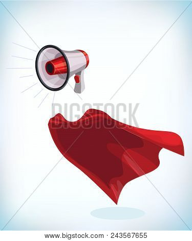 Megaphone Or Bullhorn For Amplifying The Voice For Protests Rallies Or Public Speaking. Funny Super