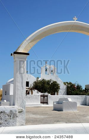 Santorini Church Gate (left Part)