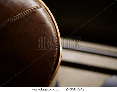 Bar Leather Chair In Bar Or Cafe