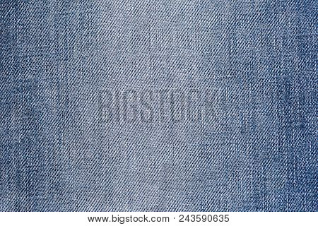 Blue Jeans Fabric. Denim Jeans Texture Or Denim Jeans Background. Denim Jeans For Fashion Design. Vi