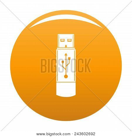 Portable Flash Drive Icon. Simple Illustration Of Portable Flash Drive Vector Icon For Any Design Or