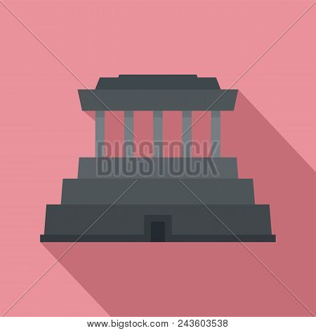 Asia Temple Icon. Flat Illustration Of Asia Temple Vector Icon For Web Design
