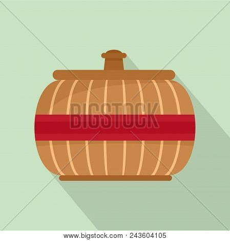 Asia Vase Icon. Flat Illustration Of Asia Vase Vector Icon For Web Design