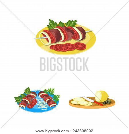 Cooking Food Cartoon Icons In Set Collection For Design. Kitchen, Equipment And Tools Vector Symbol