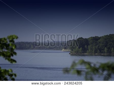 Beautiful Lake View, Includes Water Shoreline And Trees