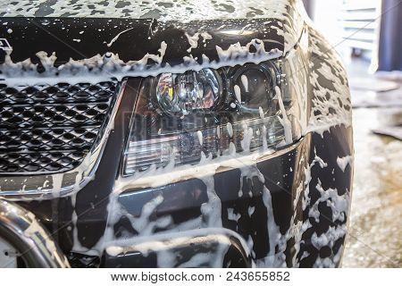 Car Clean At Car Wash Shampoos Photo