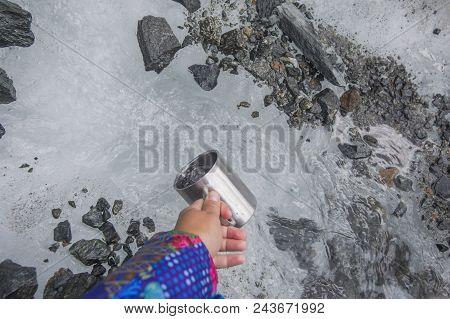 Take A Mug Of Fresh Water From A Clean Mountain Brook
