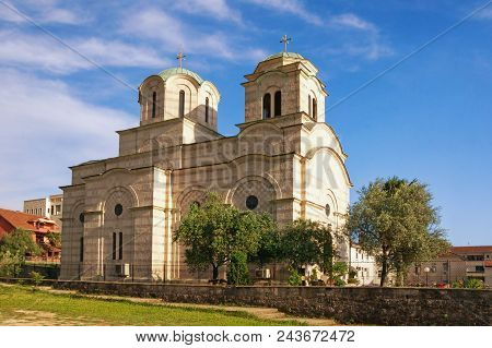 Religious Architecture. Building Of The Serbian Orthodox Church Of St. Sava. Tivat City, Montenegro