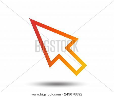 Mouse Cursor Sign Icon. Pointer Symbol. Blurred Gradient Design Element. Vivid Graphic Flat Icon. Ve