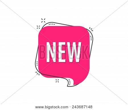New Symbol. Special Offer Sign. New Arrival. Speech Bubble Tag. Trendy Graphic Design Element. Vecto