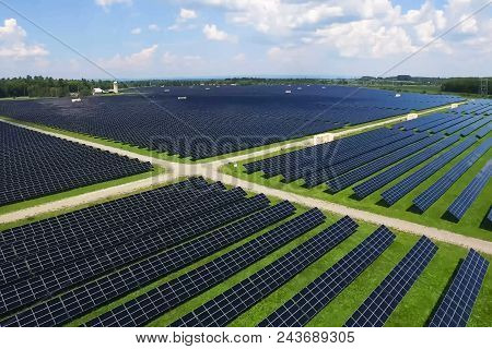 Solar Panels. An Alternative Source Of Energy. Renewable Energy Source.