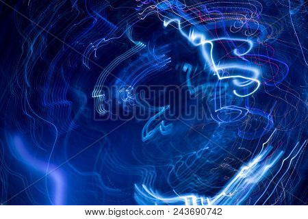 An image of blue moving lights background