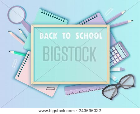 Back to school Origami paper plane Two dash heart Vector Image | 366x450