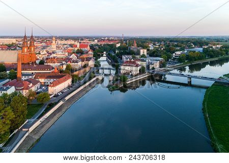 Aerial View On Opole - The City In South Of Poland