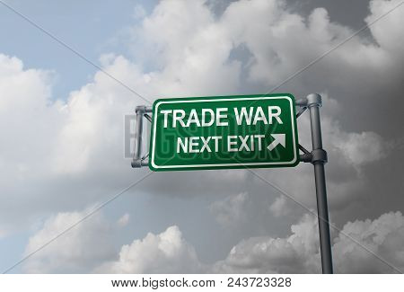 Business Trade War And American Tariffs Or Economic Crisis Based On Global Industry Dispute As An Ec
