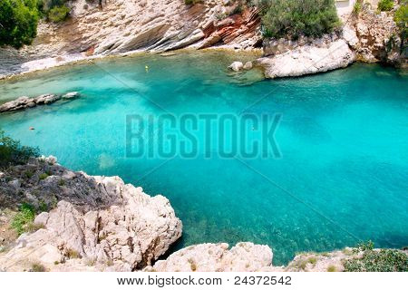 Calvia Cala Fornells turquoise mediterranean in Majorca at balearic islands of Spain poster