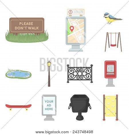 Park, Equipment Cartoon Icons In Set Collection For Design. Walking And Rest Vector Symbol Stock  Il